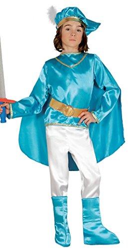 Guirca - Costume Principe, Bambino, Azzurro, Multicolore, 004.GU85902