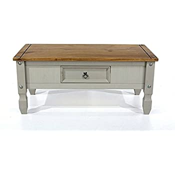 Corona Coffee Table with Drawers from our Corona Painted Grey