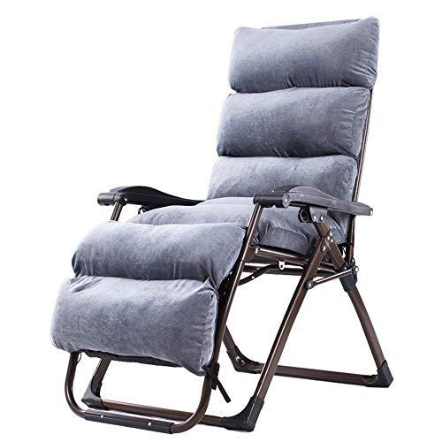 HAIZHEN Chaise longue Chaises longues, chaises de patio inclinables réglables de chaise de salon inclinables de patio de pelouse pour l'appui extérieur 330lbs de piscine de patio gris-clair pour cour