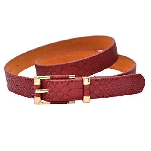 Aisoway Casual Clásico Patrón De Cocodrilo De Las Mujeres Cinturones Cinturones De Cinturón De Piel De Serpiente para Adelgazar
