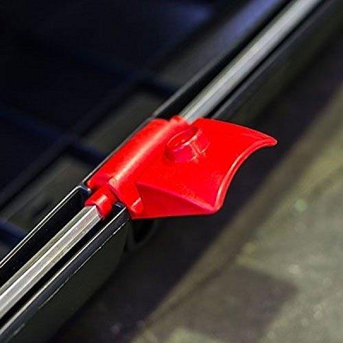 Dachbox VDP-BA320 schwarz Dachkoffer 320 Liter Autokoffer Carbon Look abschließbar - 4