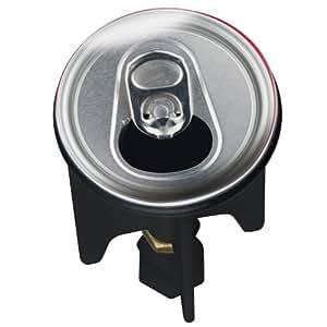 WENKO 20793100 Waschbeckenstöpsel Pluggy® Can - Abfluss-Stopfen, für alle handelsüblichen Abflüsse, Kunststoff, 3.9 x 6.5 x 3.9 cm, Mehrfarbig