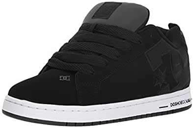 DC Men's Court Graffik SE Skate Shoe, Black Camo, 10 Medium US