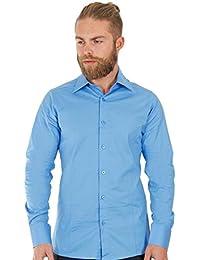 Redbridge Classic Chemise de travail Col chemise Manches longues Homme