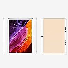 Cewaal 10.1 pulgadas 3G Wifi Tablet Octa Core, Android 6.0 2GB RAM + 32GB Memoria interna, Doble Cámara 1.9MP + 8MP, Dual SIM, Bluetooth WIFI, Google Play Store Youtube Netflix, IPS 1280x800, Oro
