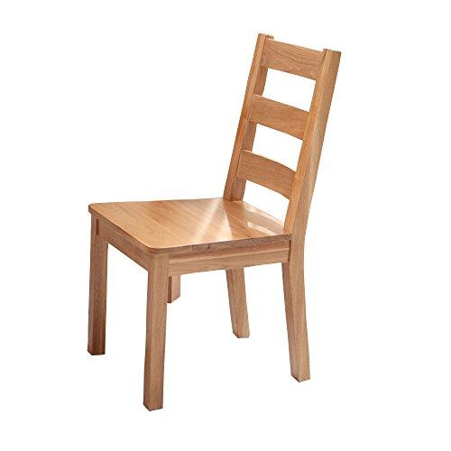 Eiche Esszimmer-möbel (LHA Stühle Massivholz Esszimmerstühle Voll Eiche Stühle Esszimmerstühle Esszimmer Möbel Modern Minimalist (Farbe : Original Color))