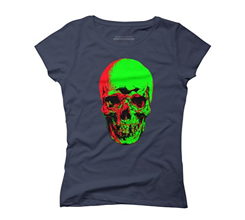 undead Women's Graphic T-Shirt - Design By Humans Navy