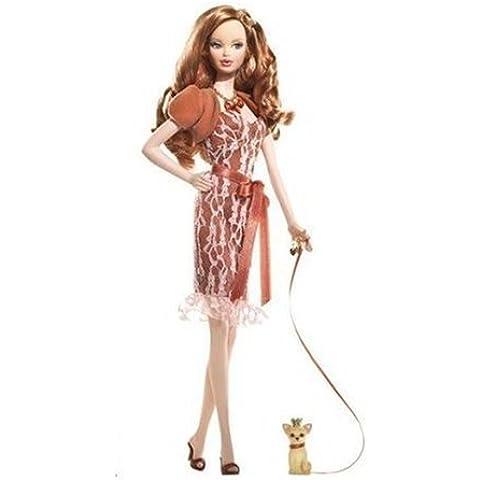 Miss Topaz Barbie Doll; Birthstone Beauties Pink