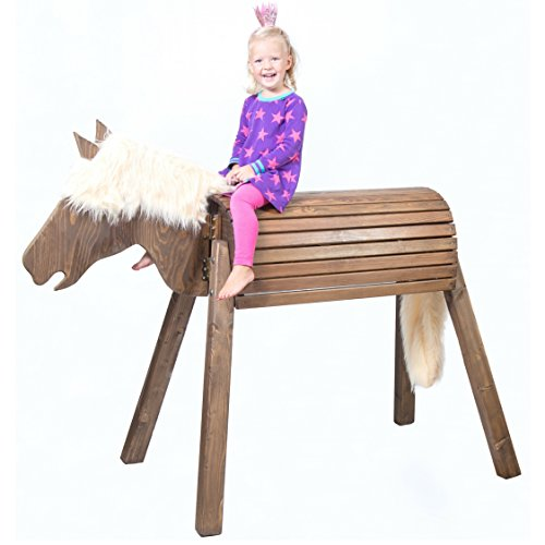 Wooden Standing Horse�Toy | Play Horse XXL�| Alternative to Large Rocking Horse�| Handmade in Germany�| Highest quality from Wildkinder�| Robust, Stable, Secure�| For Outdoors, Garden and Indoors�| Weatherproof Glaze�| Delivered Pre-assembled�| Very Simpl