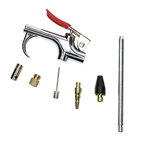 Dolity 7piece Air Blow Gun Kit Luftkompressor Düse Spitze Inflation Gebläse Air Up Tip