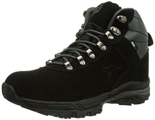 KangaROOS K-Outdoor 3005W, Stivali da neve Unisex - adulto, Nero (Schwarz (black/dk grey 522)), 43