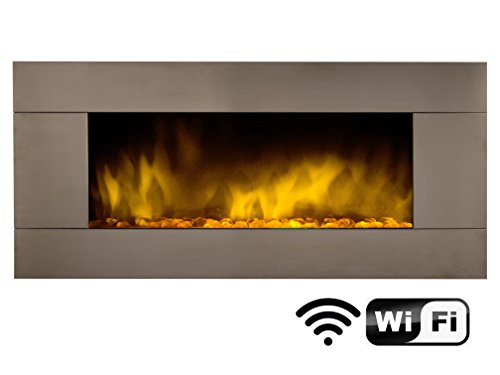 Chemin'Arte 158 Cheminée électrique WIFI Pure Inox XXL 12 couleurs de feu