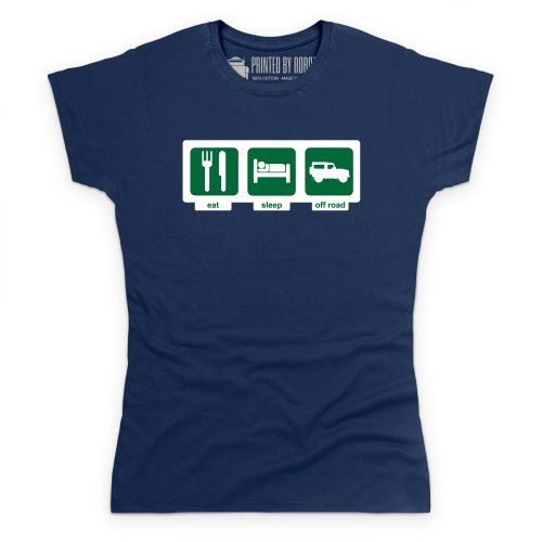 Eat Sleep Off-Road T-Shirt, Damen Dunkelblau
