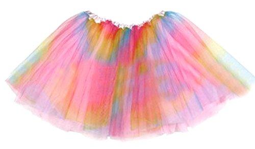 z Tutu Rock Party Ballett Lustig Kleid Regenbogen Kind Größe (Kinder-halloween-tanz-party-musik)