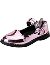 Amur Leopard Zapatos Princesa de Niña con Lazo Mercedita de Charo Elegante