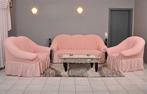 My Palace Stretch Sofabezüge 1er+2er+3er in rosa pink (Stretchhusse, Sofa-Husse, Sofabezug) / Sofabezug IKEA/sofabezuege 3 2 1 / sofabezug groß/Garnituren Cover