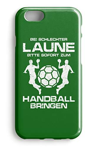 shirt-o-magic Handyhülle Handball: Schlechtgelaunt? Handball! - Case -iPhone 7 Plus-Kelly Green