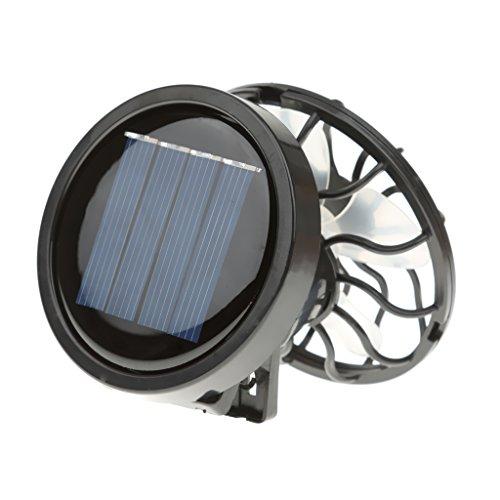 Sharplace Mini Solar Ventilator Sonnenenergie Sommer Outdoor Sport Hand Ventilator Mini-Solarzelle und Klemme
