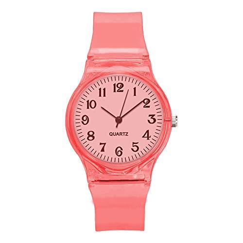 unststoff Armband Uhr Zifferblatt Mode Trend Uhr Uhr Uhr Platte Durchmesser 34mm rot ()