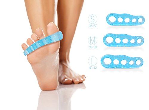 Zehenspreizer by Blissany - Yoga für Ihre Füße - Entspannt, traniert und korrigiert die Zehen, 1 Paar (Größe L, Schuhgrösse 38-39)