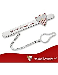Pisacorbatas escudo Sevilla FC plata de ley esmaltado [8559] - Modelo: 40-060