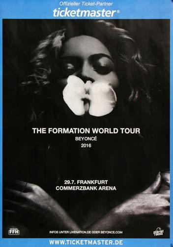 Premium Poster/Plakat | DIN A1 | Live Konzert Veranstaltung » Beyonce - The Formation, Frankfurt 2016 «
