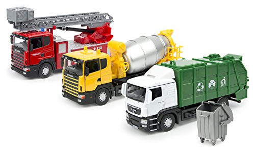 set-of-3-vehicles-garbage-truck-cement-lorry-and-fire-truck-with-a-rotary-sliding-ladder-143-diecast