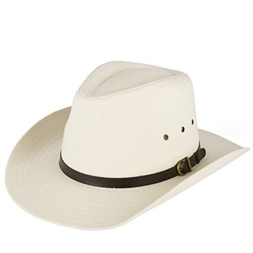 Unisex Cowboy Hat Plain With Belt with Buckle Band - Cream (59/L)