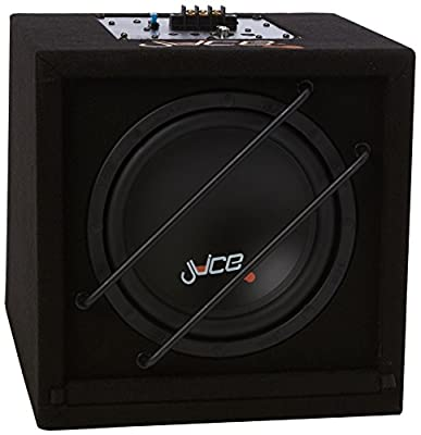 Juice AS8 Compact Active Subwoofer Enclosure with Built In Amplifier and 8-Inch Subwoofer