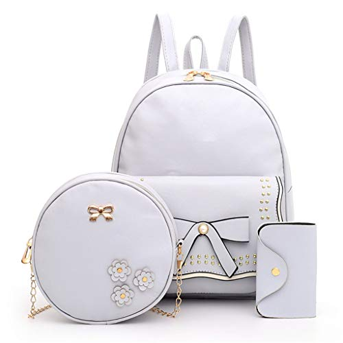 Damen Handtaschen Schultertasche Geldbörse Kartenhalter Tasche Set 3pc ()