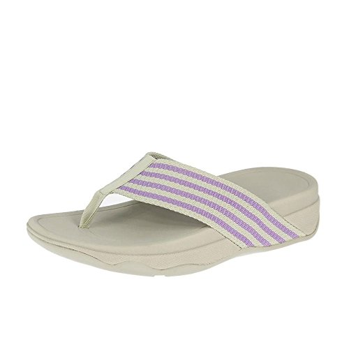 FitFlop™ Tongs SUPER amorti de femmes de Fitflop Surfa Dusty Lilac/ Rainy D