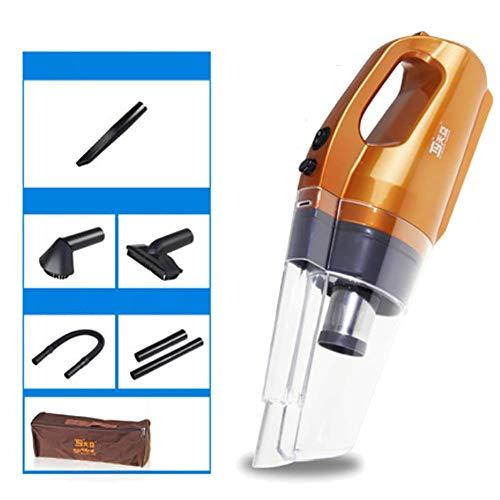 RUIX Leiser 120W Hochleistungshand-Edelstahl-Auto-Staubsauger mit 5 Saugdüsen,Orange