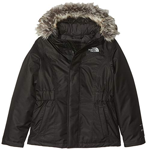 THE NORTH FACE Mädchen Greenland Daunenparka, TNF Black, L Trim Down Jacke