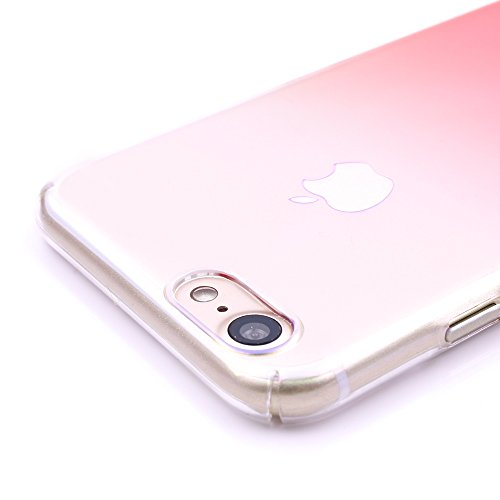 iProtect Apple iPhone 7, iPhone 8 Hülle Matt Hard Case Schutzhülle schwarz Farbverlauf orange