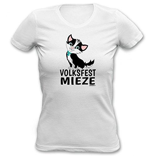 Goodman Design ® Bayerisches Shirt für Damen zum Oktoberfest - Volksfest Mieze - Geschenk T-Shirt für Bierzelt und Party Fans zur Wiesn, Größe:XL