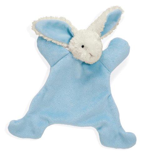 "North American Bear 8.5"" Loppy Baby Cozie Blankie, Bunny Blue by North American Bear"