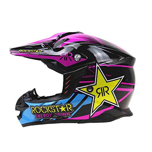 Casco antiurto per motociclisti fuoristrada per adulti casco integrale con cappellino per casco da ciclismo