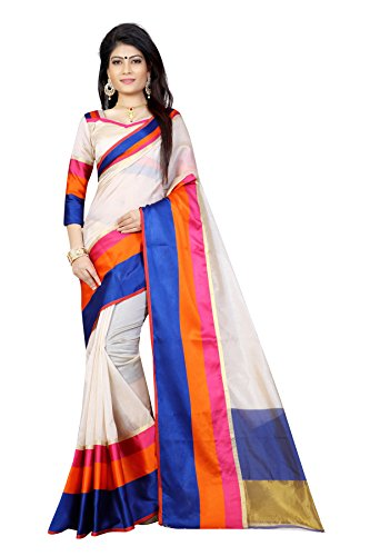 Sarees(Finix Fashion Women's Clothing Saree For Women Latest New Design Wear Sarees Fashion New Collection in Chiku Rainbow Color Polly Silk Chanderi Material Latest Fashion Saree With Designer Blouse Free Size Beautiful Bollywood Fashion Style Saree For Women Party Wear Offer Designer Sarees With Blouse Piece)  available at amazon for Rs.499