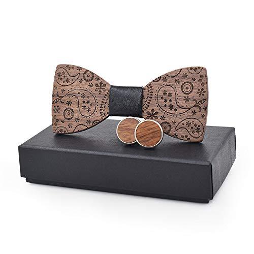 YAOSHI-Bow tie/tie Krawatten und Fliegen für Stichmuster Design Holz Holz Knoten Manschettenknöpfe Anzug Fliege Männer und Frauen Krawatten und Fliegen für Design-krawatte Tie