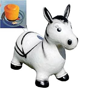 Crazy Animal Bouncer Space Hopper Inflatable Children indoor and Garden TOYS ZEBRA BLACK + WHITE