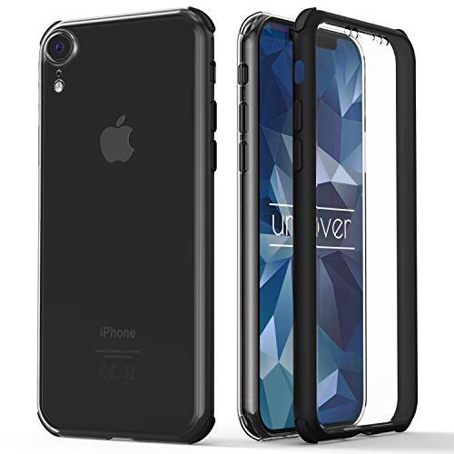 Urcover® 360 Grad rundum Schutzhülle kompatibel mit Apple iPhone XR I berühmt aus Galileo I Quattro Edition I Schwarz
