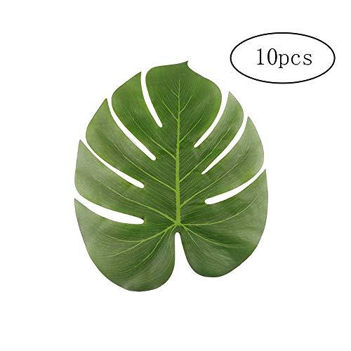 Domire 10 Stück gefälschte Pflanzen große künstliche Tropische Palmen Hawaii-Party-Dschungel-Strand-Thema-Dekorationen Künstliche Pflanzen