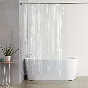 AmazonBasics – Forro transparente de PVC para cortina de ducha (180 x 200 cm)