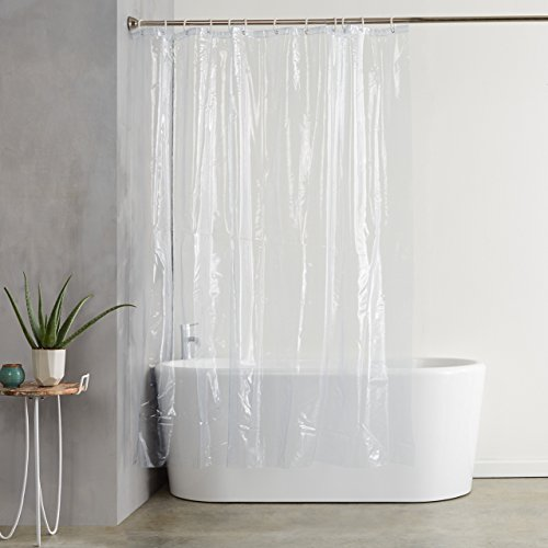 AmazonBasics-Untervorhang, PVC, Transparent, 180x200cm