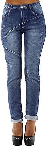 Stretch-Jeans mit Waschung, Linien & Rissen,