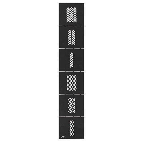 Stickers pochoirs vinyl réutilisables pour nail art - NK37