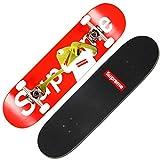 Débutant Professionnel Action Route 101 Haute élastique PU Roue de Perfusion Double Bascule personnalité Skateboard Longboard LFOZ (Color : B)