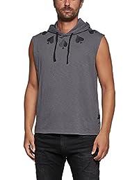 Replay Men's Slub Men's Dark Grey Hooded Sweatshirt 100% Cotton