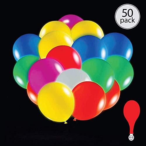 Anaoo palloncini led 50pcs colorati luminosi palloncini luce led per la decorazione nozze compleanno festa matrimoni o anniversario colorati