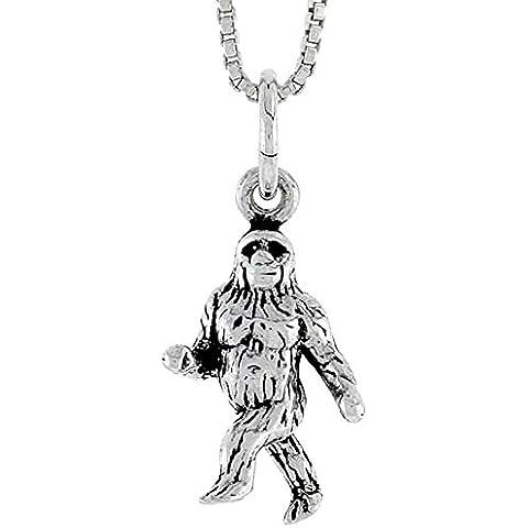Revoni Gorilla Unisex Ciondolo 925 argento sterling